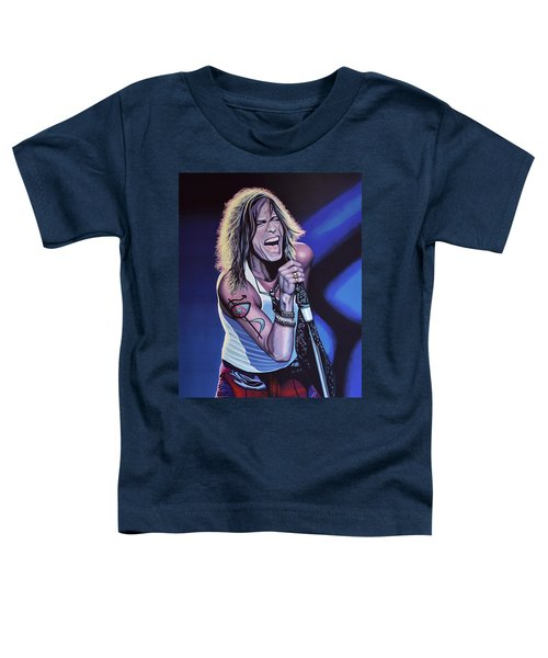 Steven Tyler Of Aerosmith Toddler T-Shirt by Paul Meijering