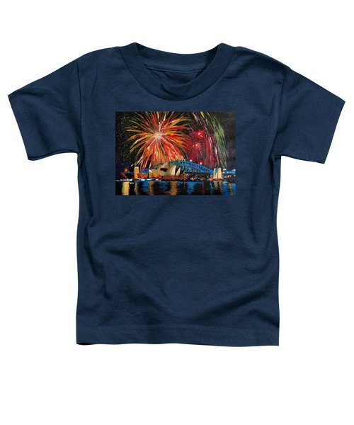Sydney Silvester Fireworks At New Year Toddler T-Shirt by M Bleichner