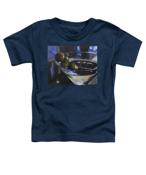 Three Olive Martini Toddler T-Shirt by Donna Tuten