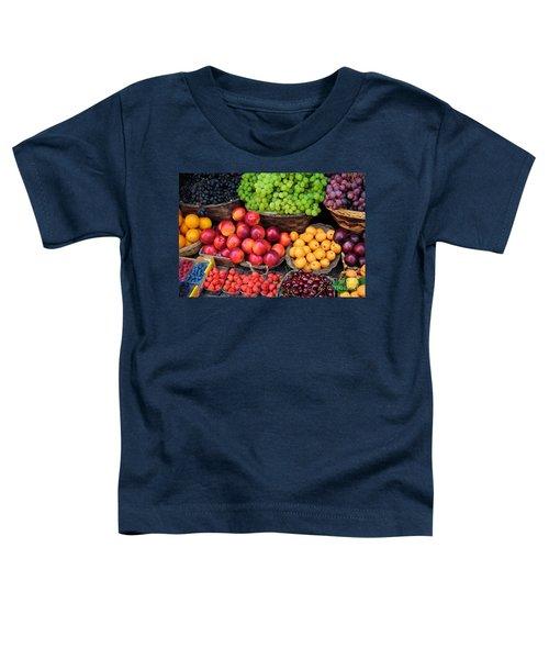 Tuscan Fruit Toddler T-Shirt by Inge Johnsson