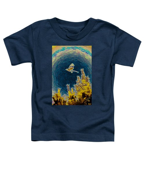 Bluejay Gone Wild Toddler T-Shirt by Trish Tritz
