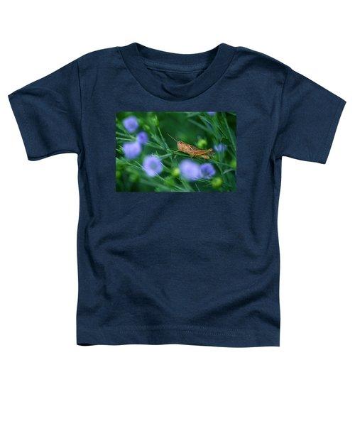 Grasshopper Toddler T-Shirt by Mike Grandmailson
