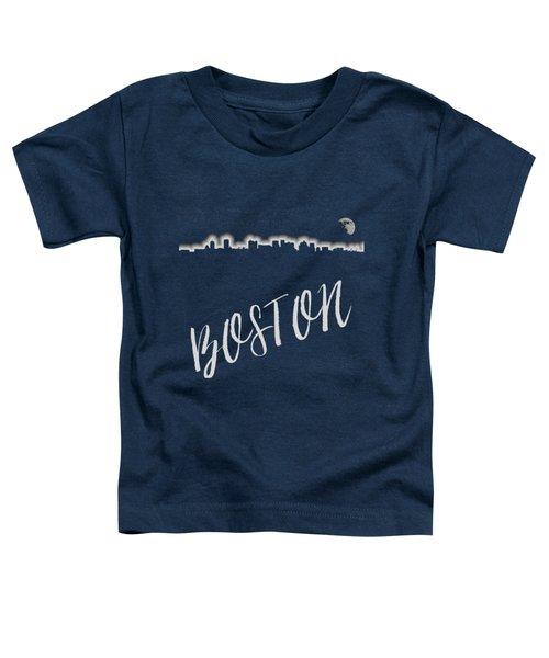 Boston Skyline Poster Toddler T-Shirt by Joann Vitali