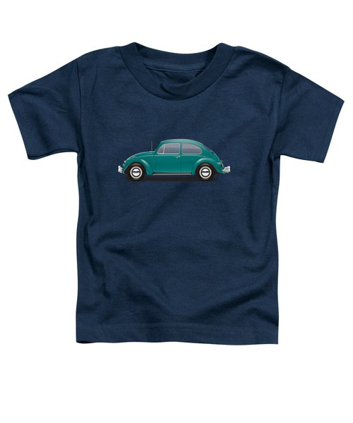 1967 Volkswagen Sedan - Java Green Toddler T-Shirt by Ed Jackson