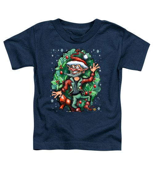 Christmas Elf Toddler T-Shirt by Kevin Middleton