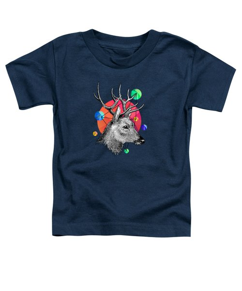 Deer Toddler T-Shirt by Mark Ashkenazi