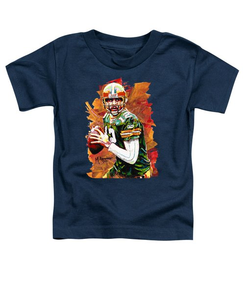 Aaron Rodgers Toddler T-Shirt by Maria Arango