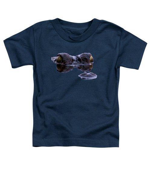 Alligator Eyes On The Foggy Lake Toddler T-Shirt by Zina Stromberg