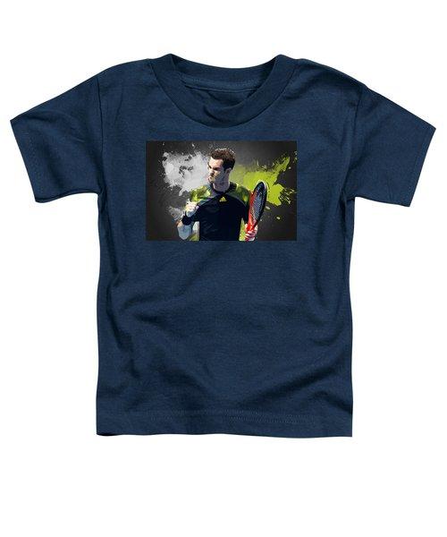 Andy Murray Toddler T-Shirt by Semih Yurdabak