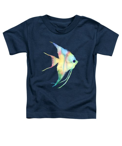 Angelfish I - Solid Background Toddler T-Shirt by Hailey E Herrera