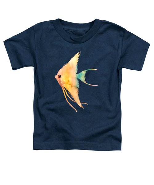 Angelfish II - Solid Background Toddler T-Shirt by Hailey E Herrera