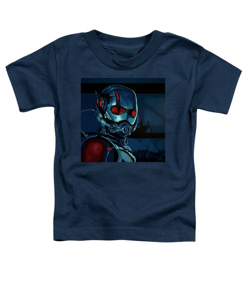 Ant Man Painting Toddler T-Shirt by Paul Meijering