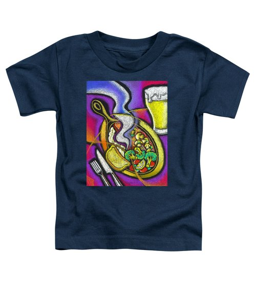 Appetizing Dinner Toddler T-Shirt by Leon Zernitsky