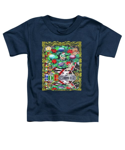 Christmas On The Moon Toddler T-Shirt by Kevin J Cooper Artwork