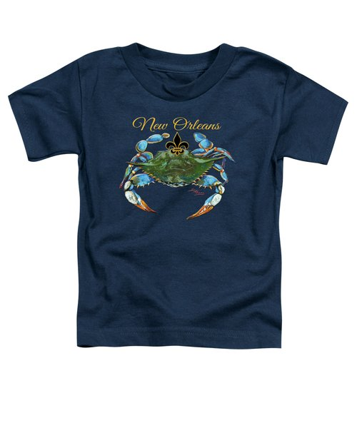 Louisiana Blue On Red Toddler T-Shirt by Dianne Parks