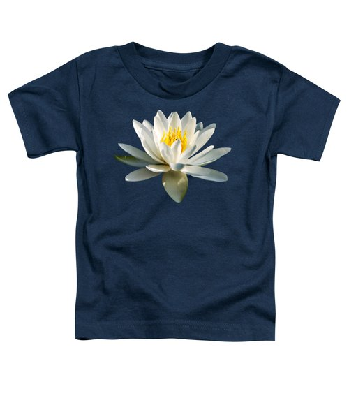 White Water Lily Toddler T-Shirt by Christina Rollo
