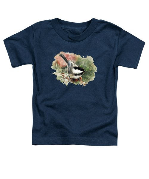 Beautiful Chickadee - Watercolor Art Toddler T-Shirt by Christina Rollo