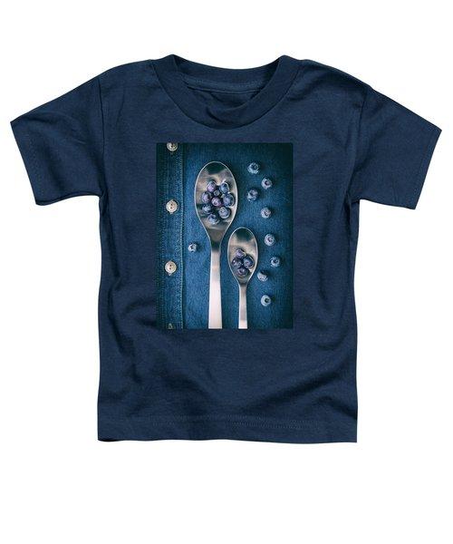 Blueberries On Denim I Toddler T-Shirt by Tom Mc Nemar