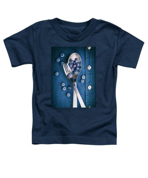 Blueberries On Denim II Toddler T-Shirt by Tom Mc Nemar