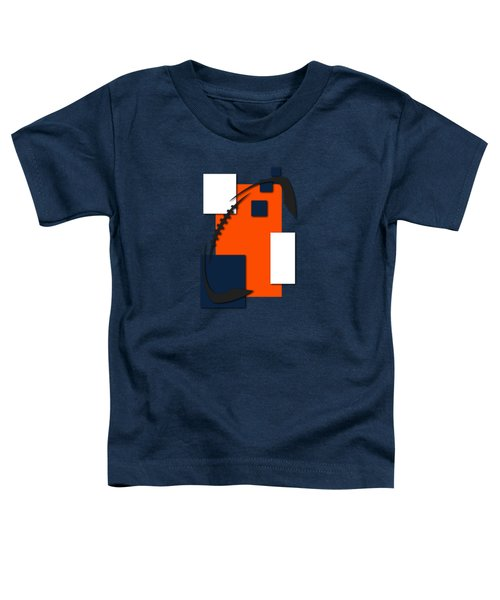 Broncos Abstract Shirt Toddler T-Shirt by Joe Hamilton