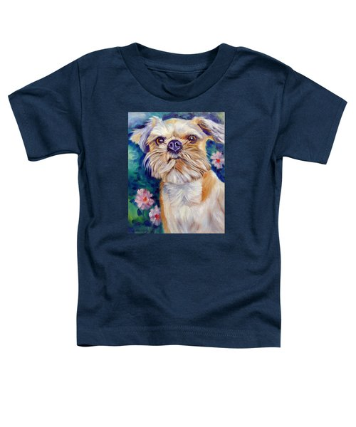 Brussels Griffon Toddler T-Shirt by Lyn Cook