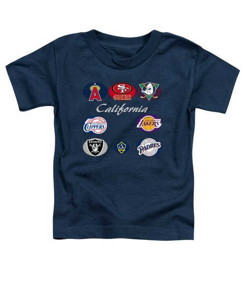 California Professional Sport Teams Collage  Toddler T-Shirt by Movie Poster Prints