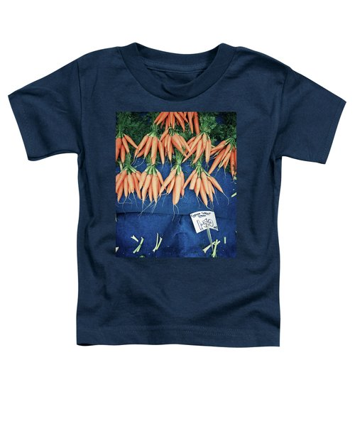 Carrots At The Market Toddler T-Shirt by Tom Gowanlock