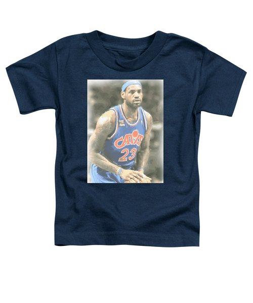 Cleveland Cavaliers Lebron James 1 Toddler T-Shirt by Joe Hamilton