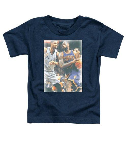 Cleveland Cavaliers Lebron James 4 Toddler T-Shirt by Joe Hamilton