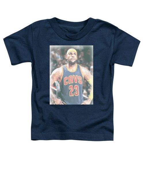 Cleveland Cavaliers Lebron James 5 Toddler T-Shirt by Joe Hamilton
