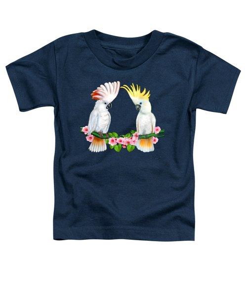 Cockatoo Courtship Toddler T-Shirt by Glenn Holbrook