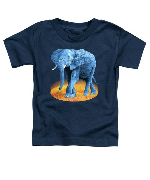 Elephant - World On Fire Toddler T-Shirt by Gill Billington