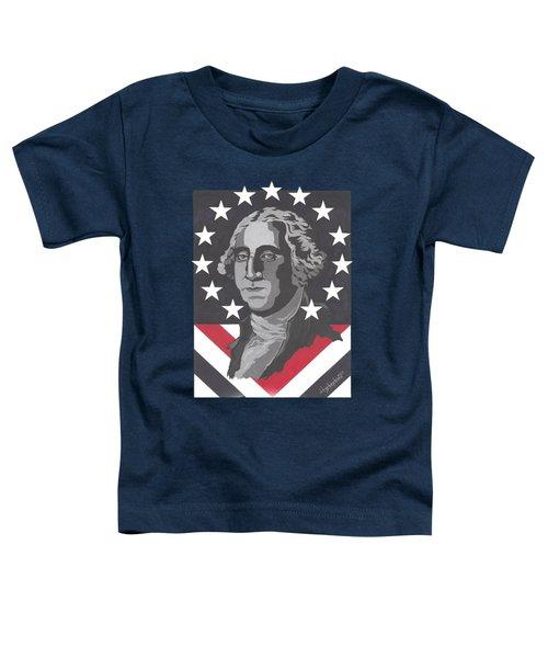 George Washington Toddler T-Shirt by Herb Strobino