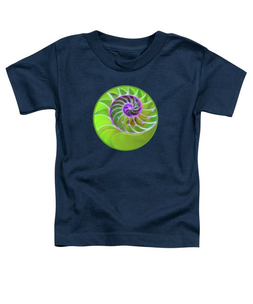 Green And Purple Spiral Toddler T-Shirt by Gill Billington