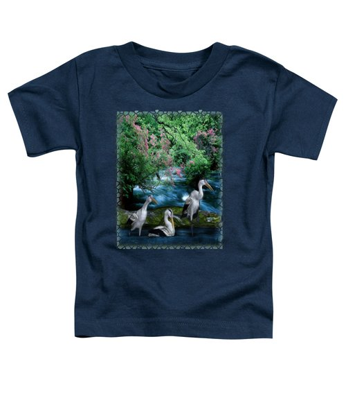 Grey Heron Point Toddler T-Shirt by Sharon and Renee Lozen
