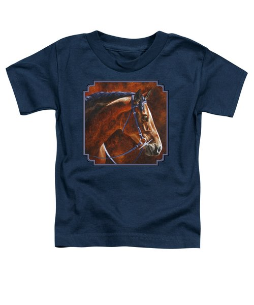Horse Painting - Ziggy Toddler T-Shirt by Crista Forest
