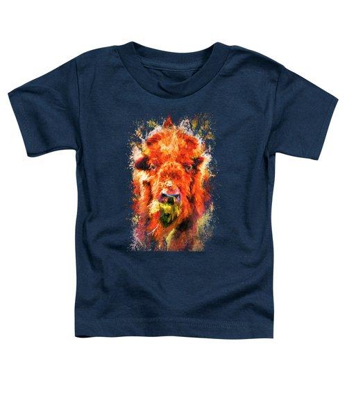 Jazzy Buffalo Colorful Animal Art By Jai Johnson Toddler T-Shirt by Jai Johnson