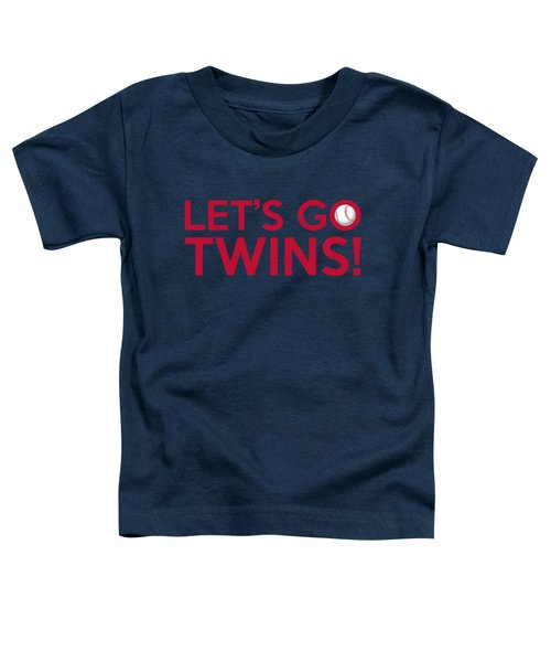 Let's Go Twins Toddler T-Shirt by Florian Rodarte