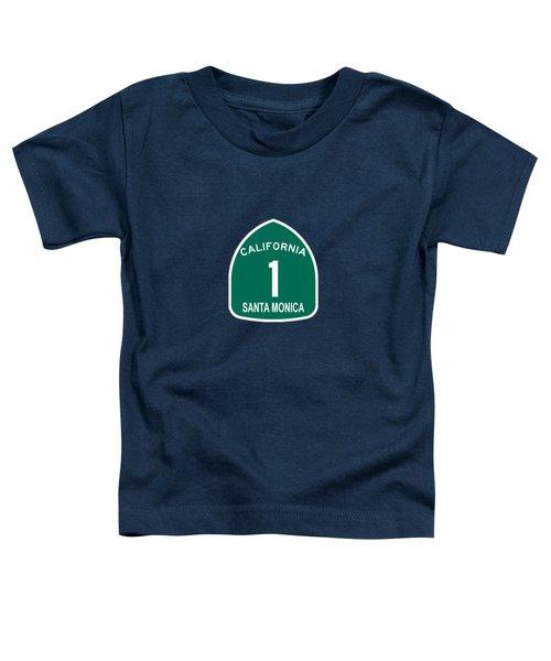 Pch 1 Santa Monica Toddler T-Shirt by Brian's T-shirts