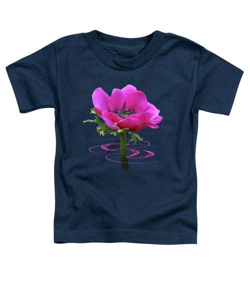 Pink Anemone Whirl Toddler T-Shirt by Gill Billington