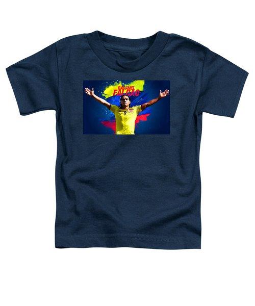 Radamel Falcao Toddler T-Shirt by Semih Yurdabak