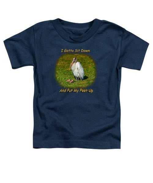 Resting Woodstork Toddler T-Shirt by John M Bailey