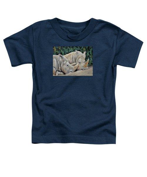 Rhinos Toddler T-Shirt by Sam Davis Johnson