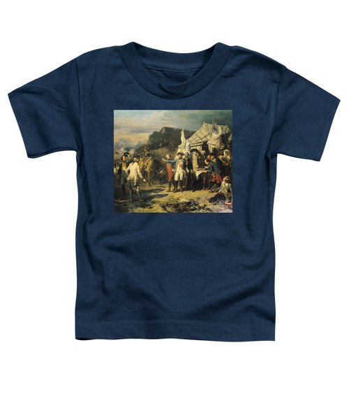 Siege Of Yorktown Toddler T-Shirt by Louis Charles Auguste  Couder