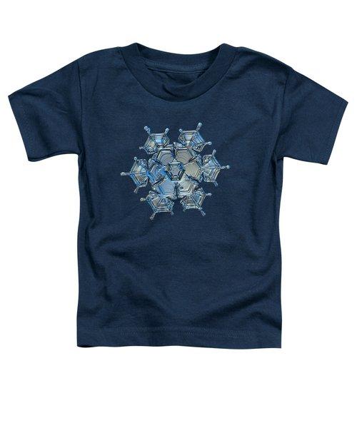 Snowflake Photo - Flying Castle Alternate Toddler T-Shirt by Alexey Kljatov