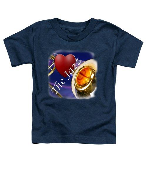 The Trombone Jazz 002 Toddler T-Shirt by M K  Miller