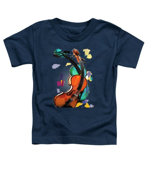 Violins Toddler T-Shirt by Melanie D