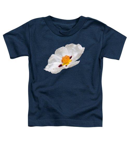 White Cistus Toddler T-Shirt by Gill Billington