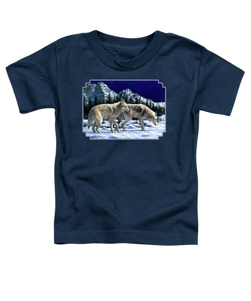 Wolves - Unfamiliar Territory Toddler T-Shirt by Crista Forest
