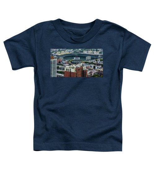 Wrigley Field Park Place Towers During The Day Dsc4743 Toddler T-Shirt by Raymond Kunst
